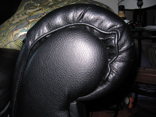 The piping on the left arm rest